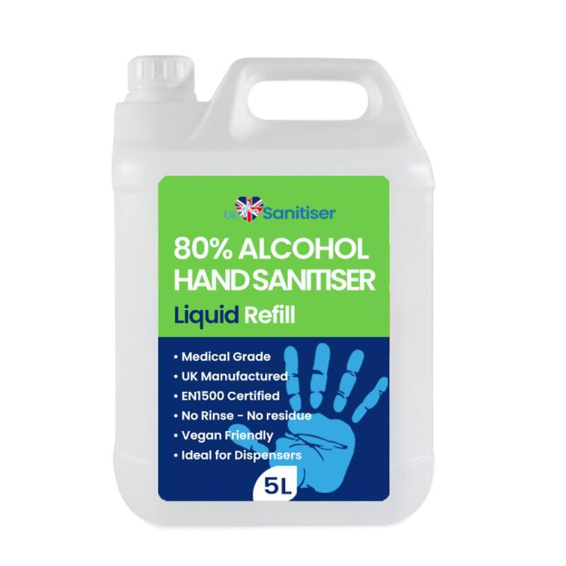 5L Liquid Hand Sanitiser Refill