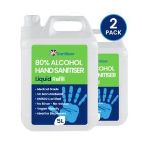 5L Liquid Hand Sanitiser Refill (2 Pack)