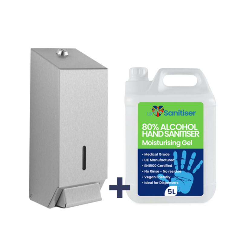 Wall Dispenser & 5 Litre Sanitiser Refill