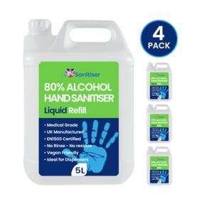 5L Liquid Sanitiser Refill (4 Pack)